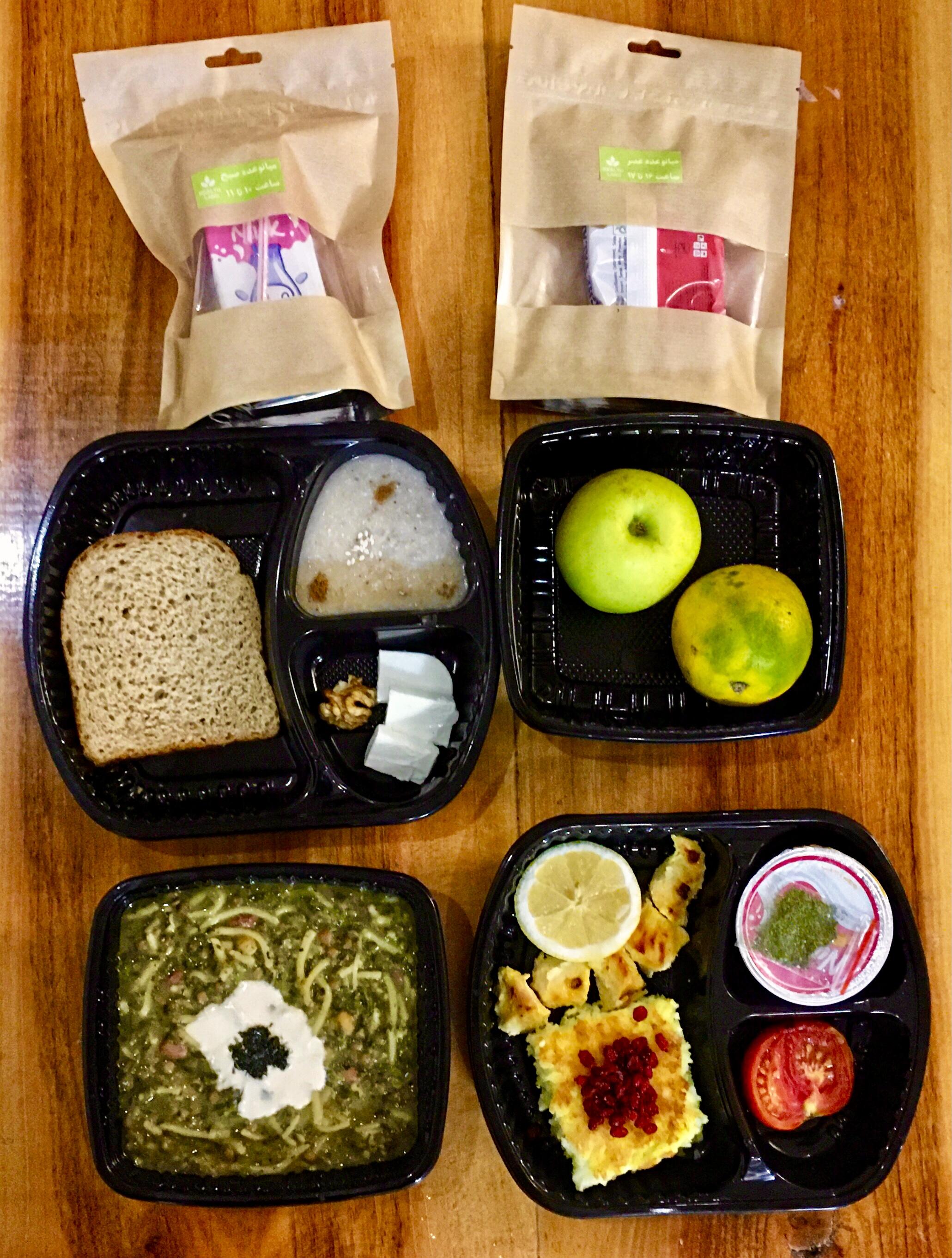 پکیج غذای رژیمی ماهانه