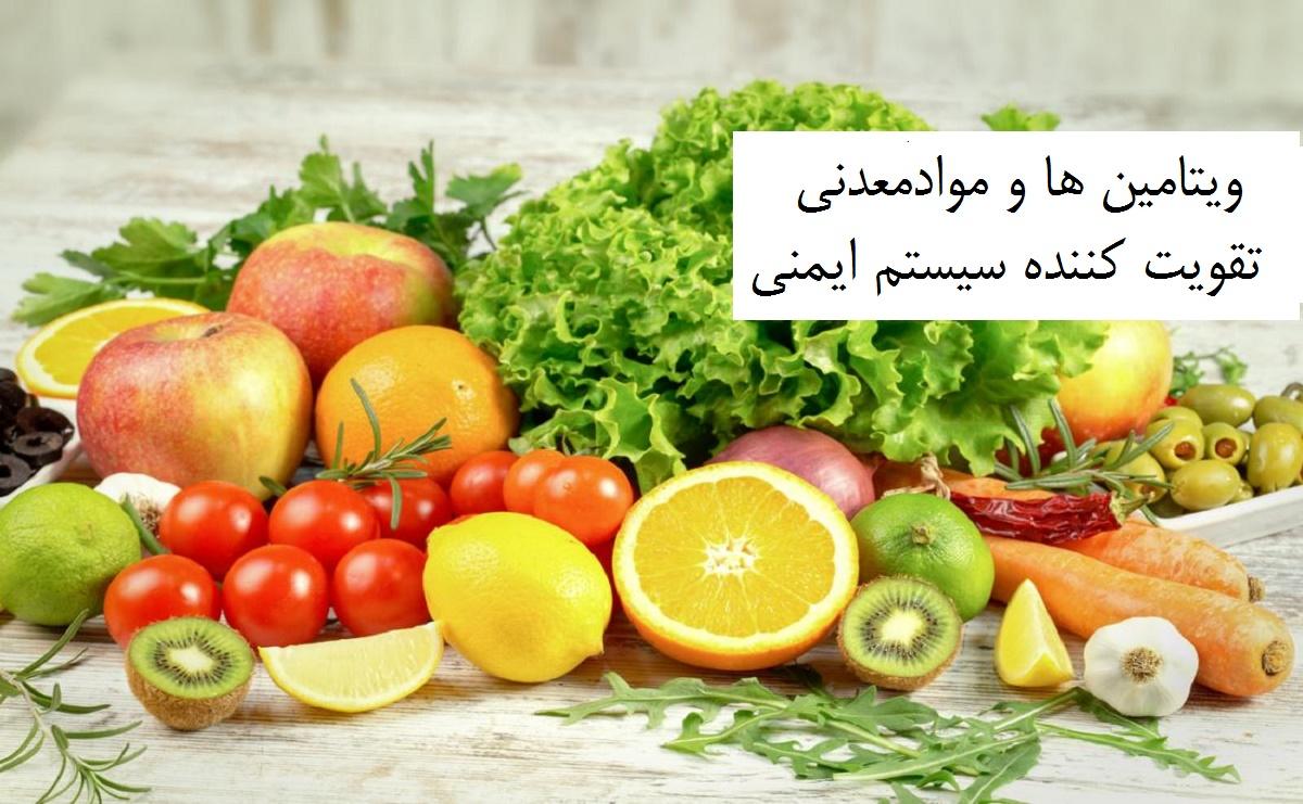 ویتامین ها و موادمعدنی موثر در تقویت سیستم ایمنی